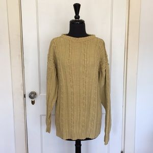 Amazing Heavy Long Cable Knit Sweater